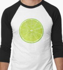 Slice of lime Men's Baseball ¾ T-Shirt
