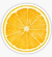 Slice of orange fruit Sticker