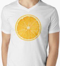 Slice of orange fruit Men's V-Neck T-Shirt