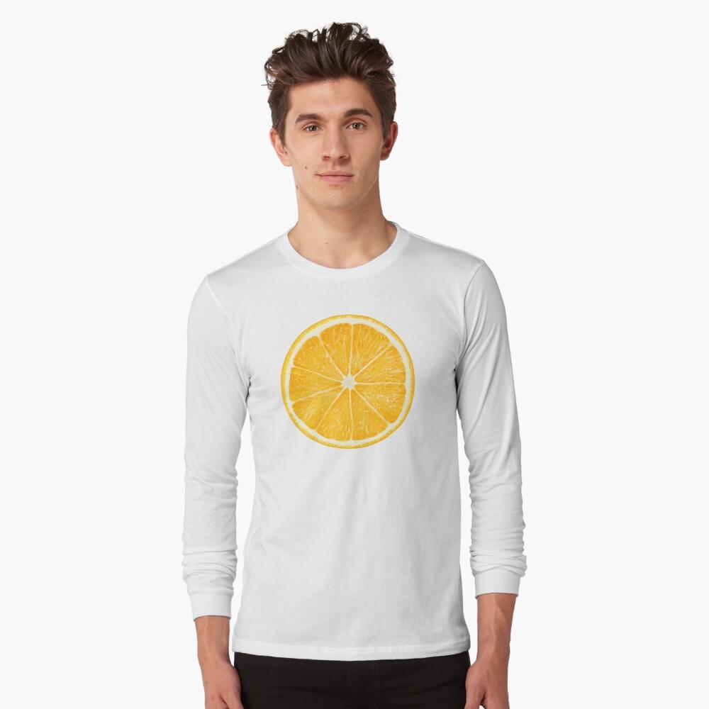Rebanada de fruta de naranja Camiseta de manga larga