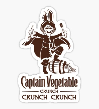 Captain Vegetable Sticker