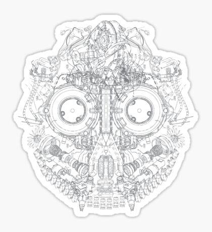 Robot Skull Sticker