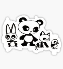 Panda Tee Sticker