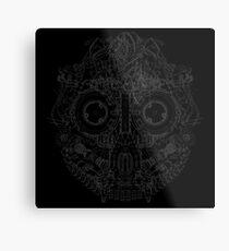 Robot Skull Metal Print