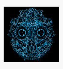 Robot Skull - blue Photographic Print