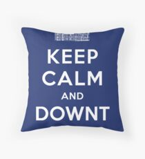 Keep Calm and DOWNTON! Throw Pillow