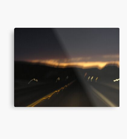 Abstract #3: Highway 90 to Del Rio Metal Print