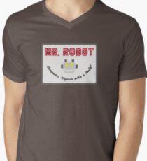 Mr Robot Men's V-Neck T-Shirt