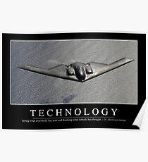 Technologie: Inspirierend Zitat und motivierend Plakat Poster
