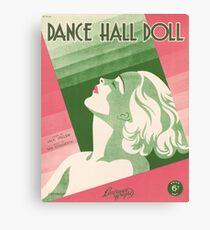 DANCE HALL DOLL (vintage illustration) Canvas Print