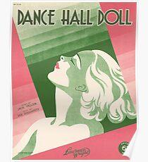 DANCE HALL DOLL (vintage illustration) Poster