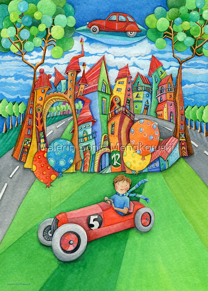 children's  car by Malerin Sonja Mengkowski