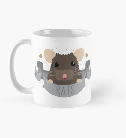 RATS with cute rat on a banner Mug