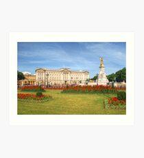 Buckingham Palace And Garden Art Print