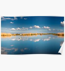 Blue sky white cloud Poster