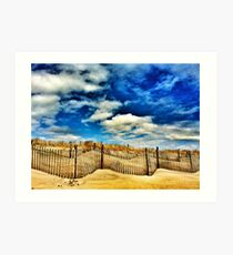 beach, dune and sky Art Print