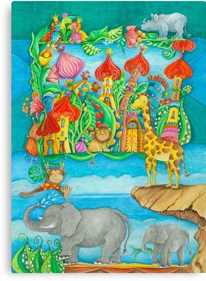Children's Zoo by Malerin Sonja Mengkowski