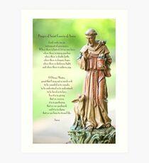 Prayer of St. Francis of Assisi Art Print