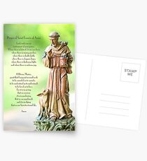 Prayer of St. Francis of Assisi Postcards