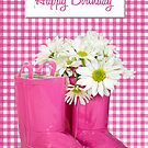 Birthday Bouquet in Boots by Maria Dryfhout