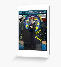 Sherlock Nouveau: Gregory Lestrade Greeting Card