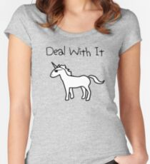 Deal With It (Unicorn) Women's Fitted Scoop T-Shirt