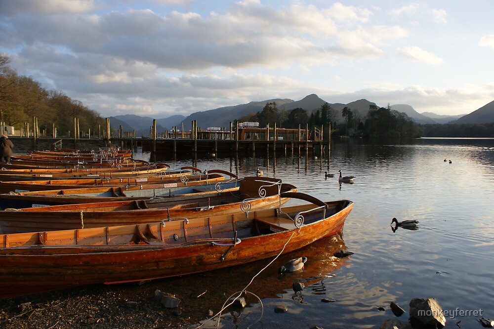 Boats by the lake - Keswick by monkeyferret
