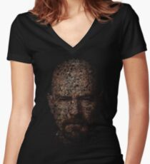 Walter White, Typographic Man of Chemistry Women's Fitted V-Neck T-Shirt