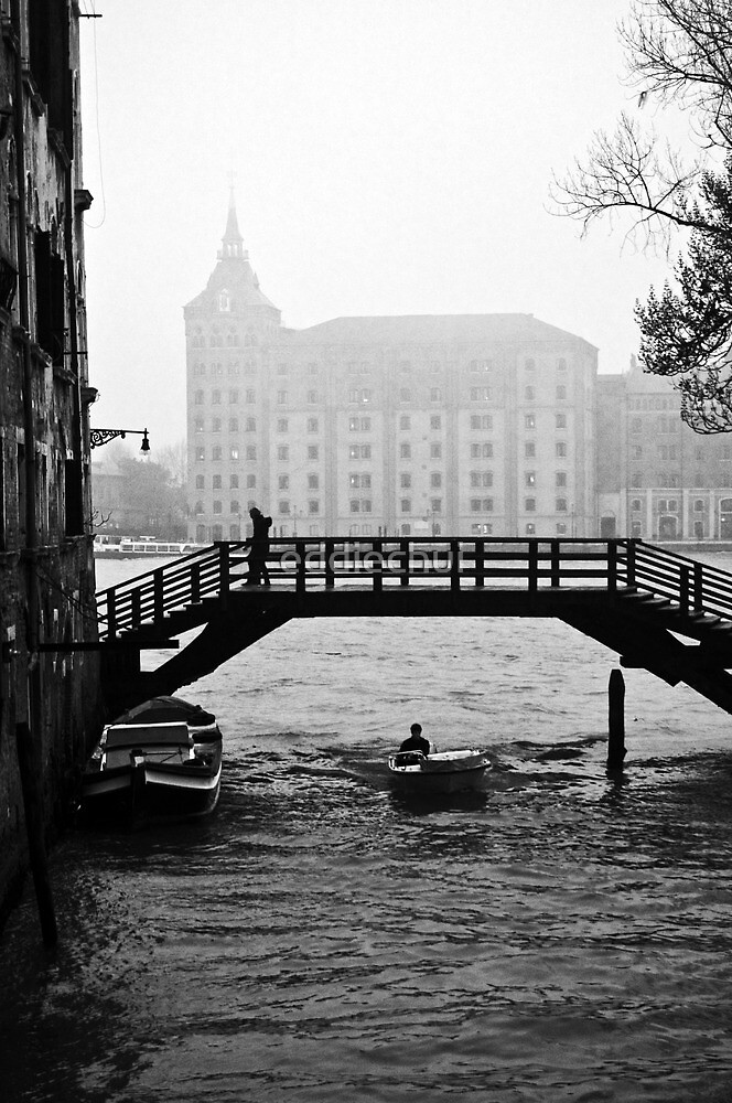 Canal in the mist by eddiechui