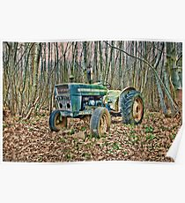 Tractor In The Woods Poster