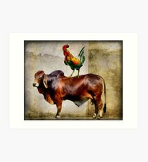 Cock And Bull Story Art Print