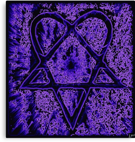 Violet Thoughts Heartagram by RW ART