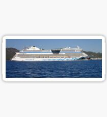 Aida Cruise Ship Entering Marmaris Bay Turkey Sticker