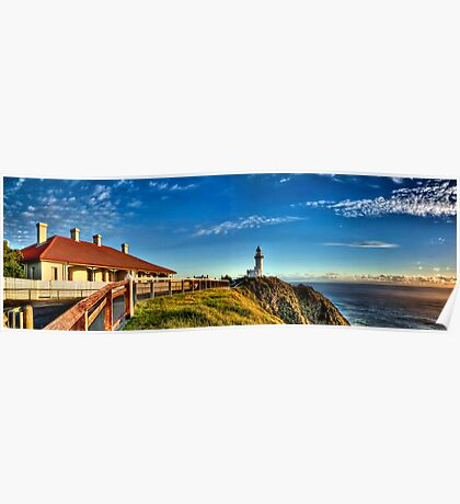 Sun kissed Lighthouse - Byron Bay Poster