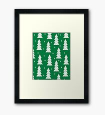 Christmas Tree - Kelly Green by Andrea Lauren  Framed Print
