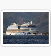 Aida Stella Cruise Ship Leaving Marmaris Sticker