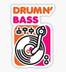 Drum N' Bass Sticker