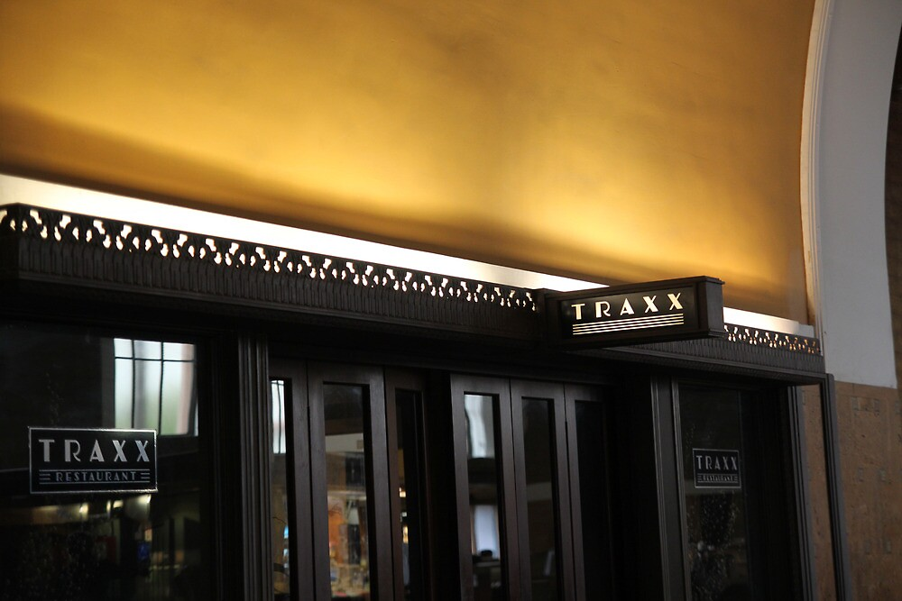Traxx Sign, Union Station by Jane McDougall