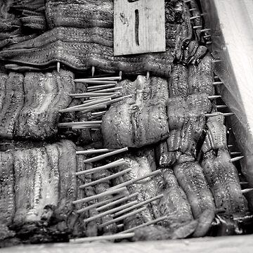 Unagi on a stick - Japan by keystone