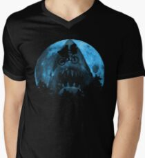 Jaws Shadow Men's V-Neck T-Shirt