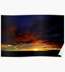 Sunset South Africa KZN Midlands Poster