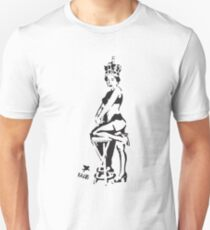 Hot Queen stencil in Camden Town T-Shirt
