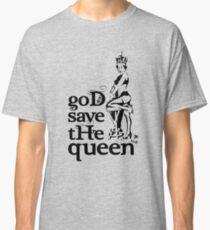 Hot Queen stencil, God save the queen Classic T-Shirt