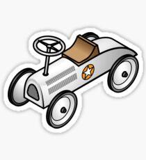 A retro vintage race cart. Sticker
