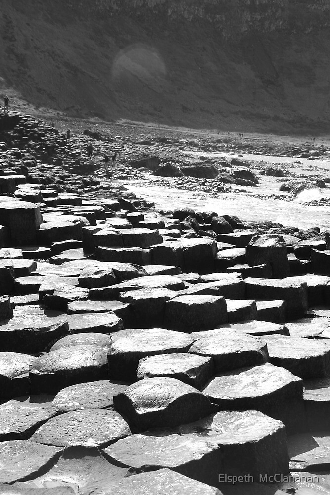 Giants Causeway in B&W by Elspeth  McClanahan