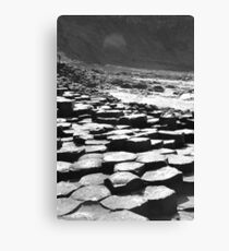 Giants Causeway in B&W Canvas Print