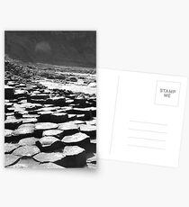 Giants Causeway in B&W Postcards