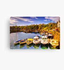 Crail Harbour (HDR Tilt Shift) Canvas Print