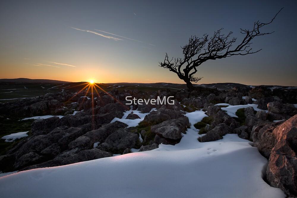 Sundown On Malham Moor by SteveMG