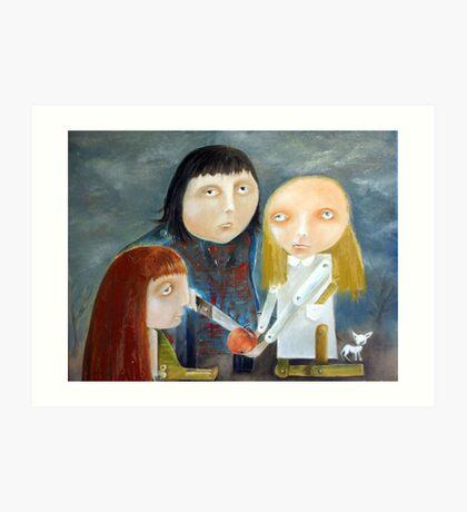 Siblings - Peace Treaty Art Print